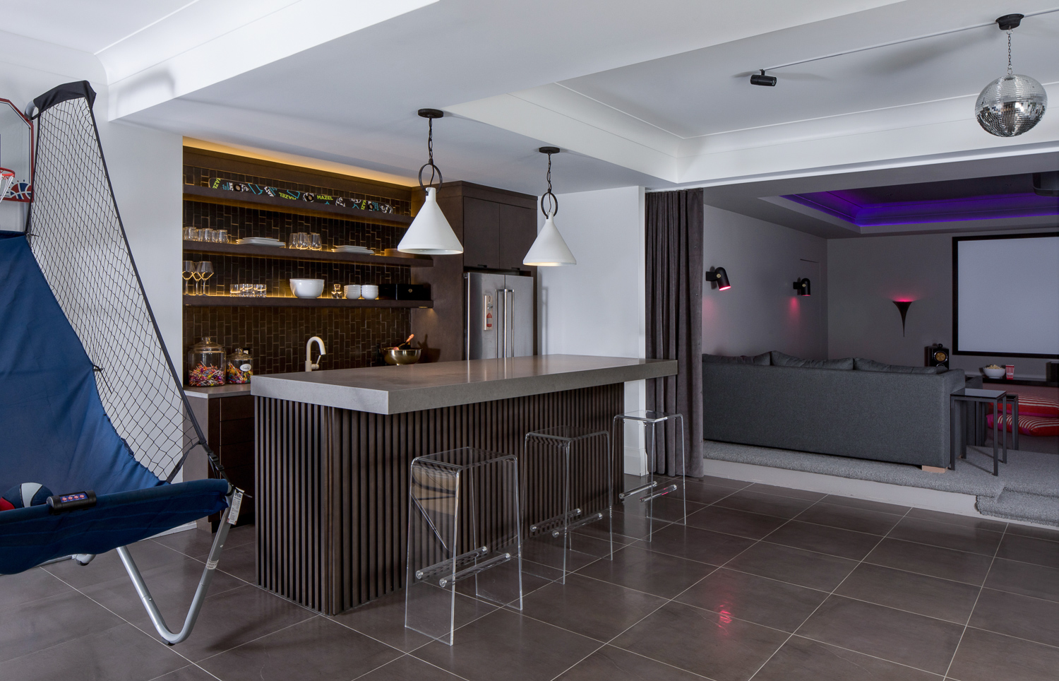 basement bar and theater design build westfield nj