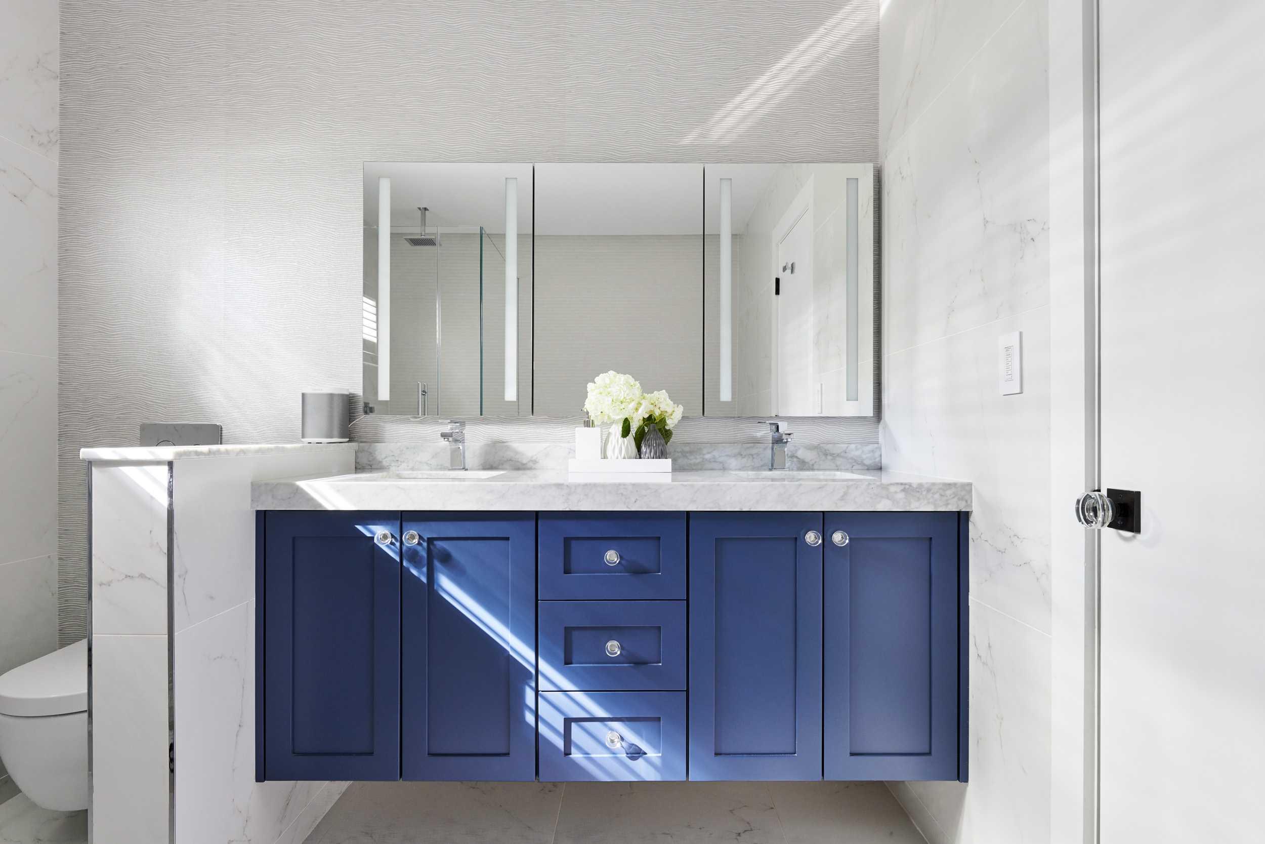 Master Suite. Blue vanity